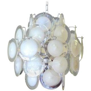 Murano Glass Disc Chandelier by Gino Vistosi