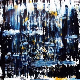 "Jose M. Clark ""Dark Water #4"" Original Abstract Painting"