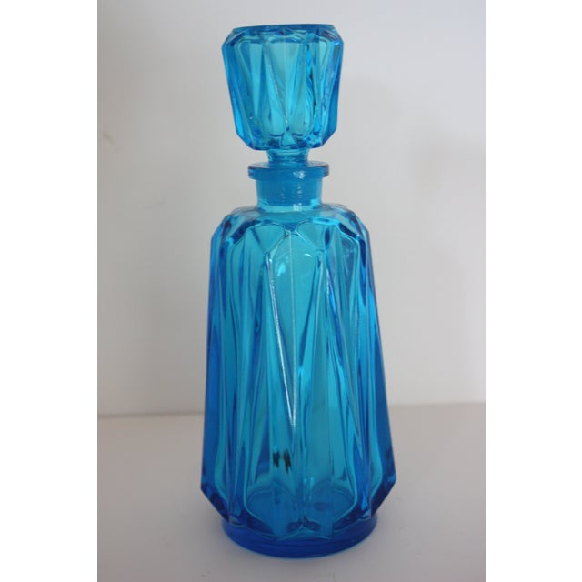 Image of Mid-Century Turquoise Decanter