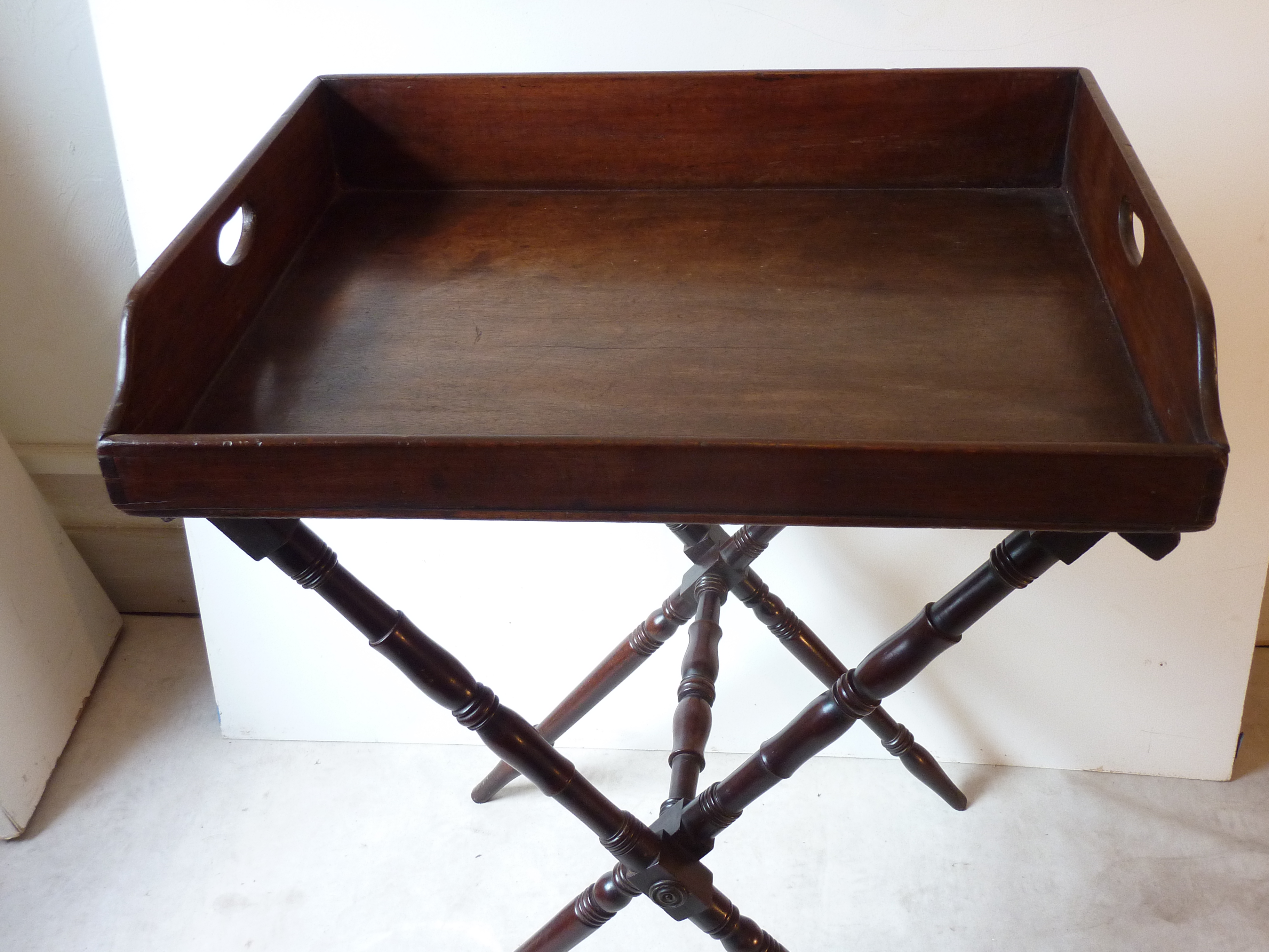 19th C. English Butler Tray On Stand   Image 3 Of 4