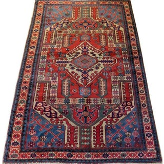 Antique Karabagh Wool Rug - 4′4″ × 6′8″