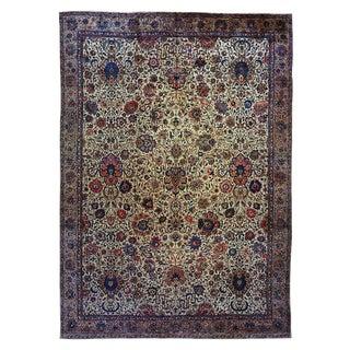 "Antique Indo-Isfahan Carpet - 20'6"" x 14'8"""