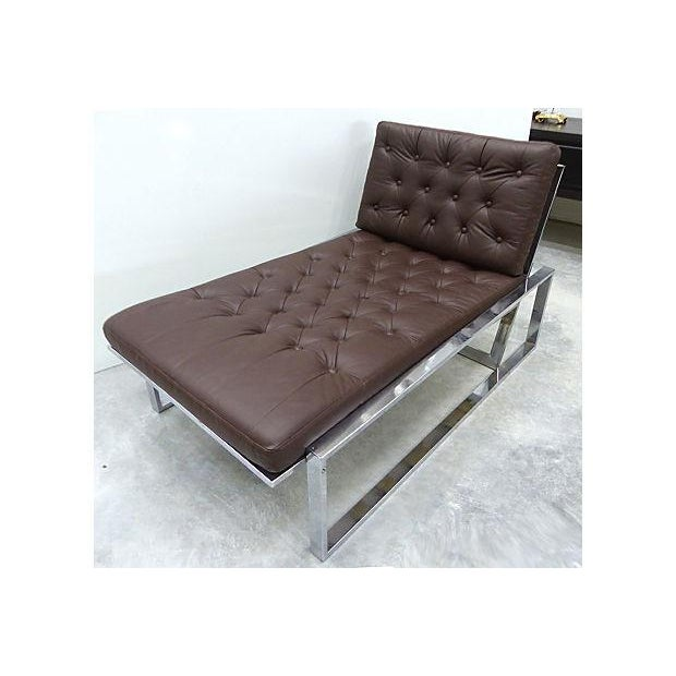 Image of 1970's Petite Italian Chaise Lounge