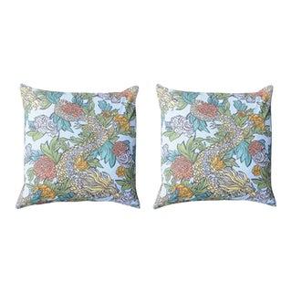 Dragon Print Pillows - A Pair