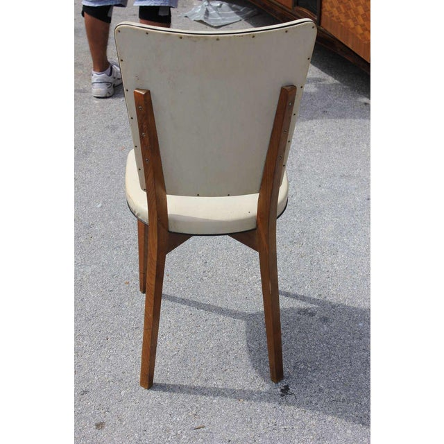 Vintage French Art Deco Mahogany Dining Chairs - Set of 6 - Image 5 of 7