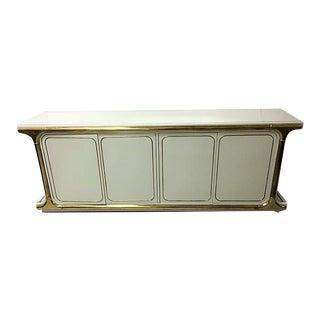 Regency Mastercraft Wood & Brass Cabinet