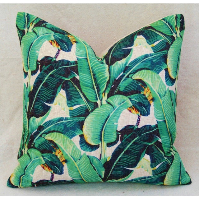 Dorothy Draper-Style Banana Leaf Pillows - A Pair - Image 5 of 10