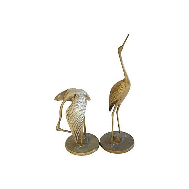 Mid-Century Brass Cranes - A Pair - Image 4 of 4