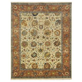 Indian Tabriz Design Rug - 7-9 x 9-7