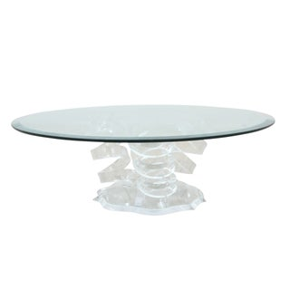 Spiral Glass & Lucite Coffee Table