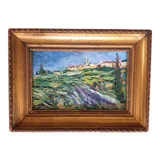 Provence Lavender Field Painting