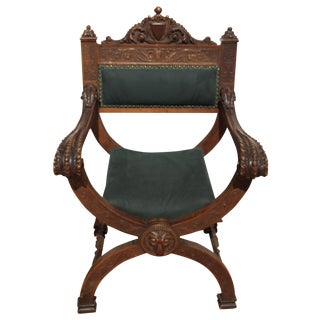 Italian Savonarola Carved Chair