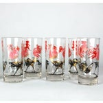 Image of Mid-Century Rooster Highball Glasses - Set of 5