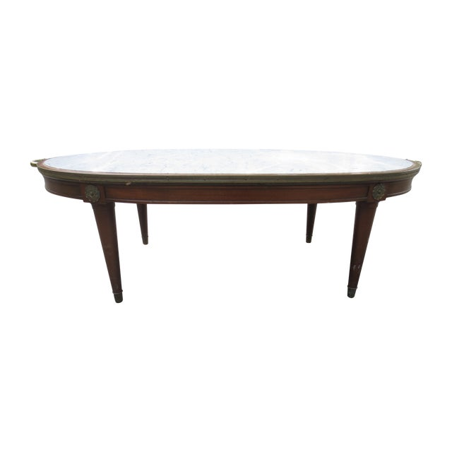 1940s Italian Marble And Fruitwood Coffee Table Chairish