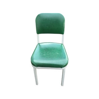 Industrial Mid Century Green and Gray Side Chair