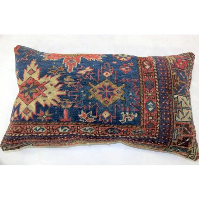 Antique Navy Blue Persian Lumbar Rug Pillow