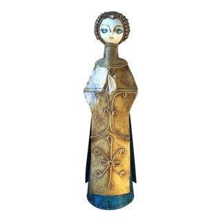 Vintage De Sela Paper Mache Angel Candle Holder