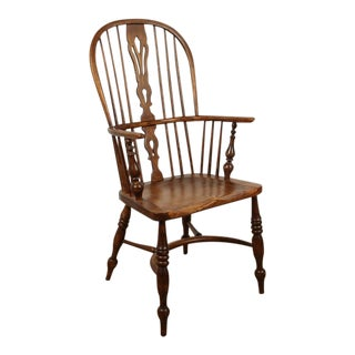 One English Yew High Back Chair