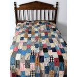 Image of Vintage Hand-Tied Patchwork Quilt