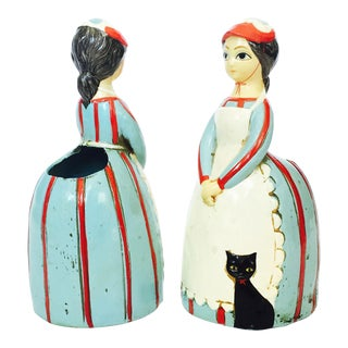 Mid Century German Lady Planters - Set of 2