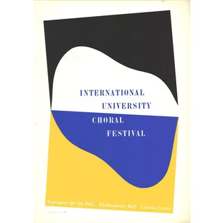Charles Hinman-International University Choral Festival-1965 Serigraph-SIGNED