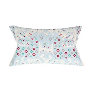 Serenity Blue Handwoven Guatemalan Pillow