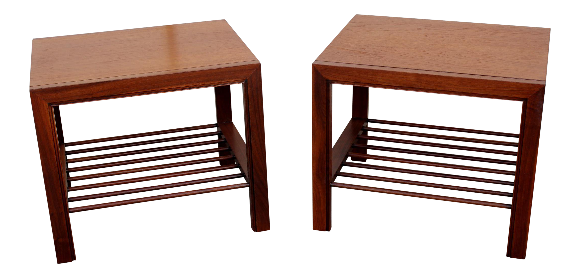 Baker Furniture Side Tables   A Pair