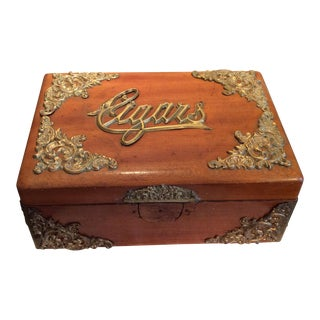 Antique Oak Cigar Humidor