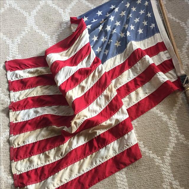Vintage Weathered American Flag - Image 3 of 7