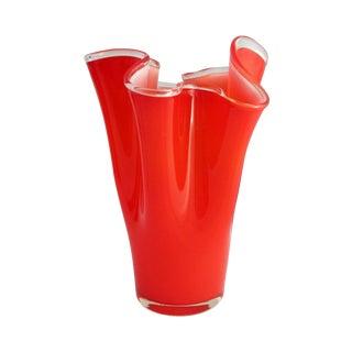 Tall Red Handkerchief Vase