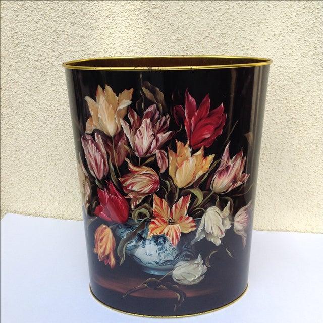 Vintage Tulip Wastebasket - Image 2 of 8