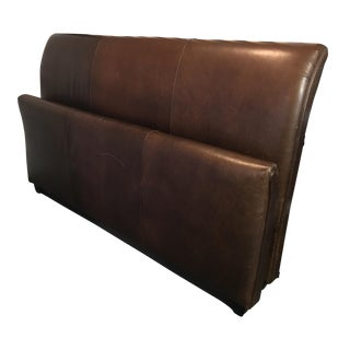 Mitchell Gold Brown Leather Cal King Bed
