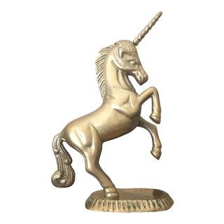 Vintage Mid Century Solid Brass Unicorn