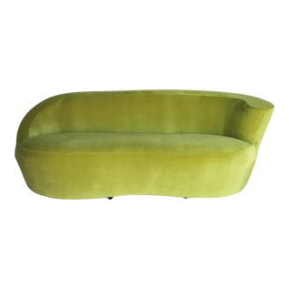 1980s Vladimir Kagan for Directional Furniture Biomorphic Nautilus Sofa