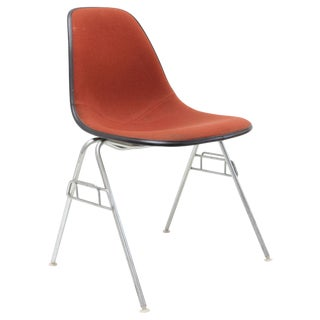 Herman Miller Red Hopsack Fiberglass Side Chair