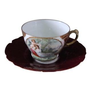 Royal Saxe Demitasse Cup & Saucer