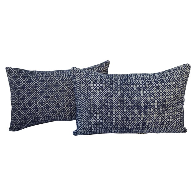 Hill Tribe Silk Embroidered Pillow - A Pair - Image 1 of 6