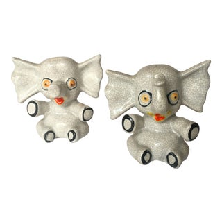 Crazy Elephants Salt & Pepper Shakers - A Pair