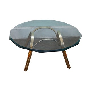 Roger Sprunger Style Brass & Glass Coffee Table