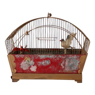 Painted Brass Bird Cage
