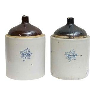 Ceramic Stoneware Jars - A Pair