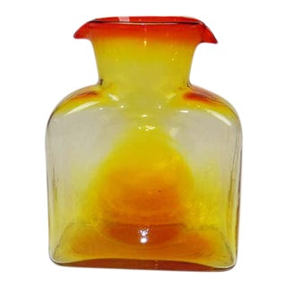 Blenko Mid-Century Amberina Glass Pitcher