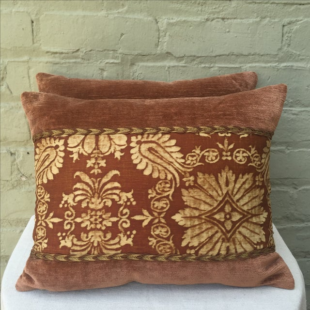 Fortuny Textile Pillows - A Pair - Image 2 of 5