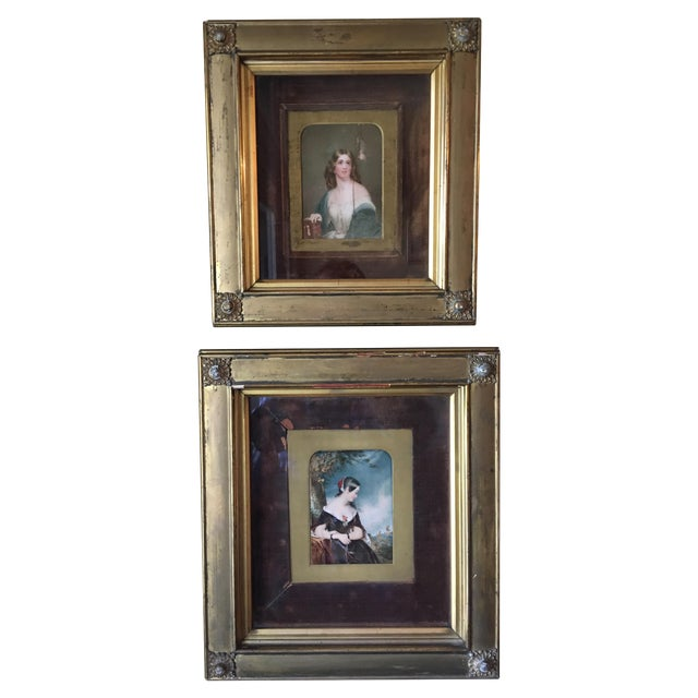 19th Century Oil on Ivory Painting - Image 1 of 7