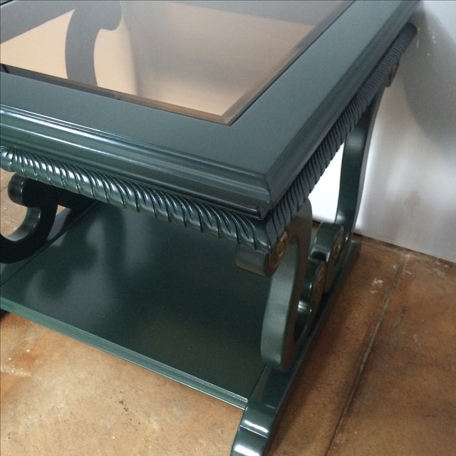 Image of Harp-Shape Lacquer Side Tables - A Pair