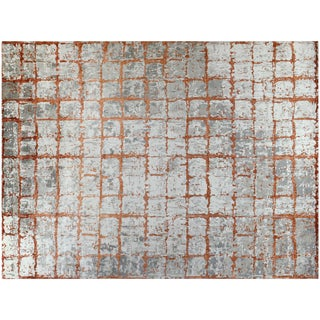 Contemporary Wool Rusty Rug - 11′10″ × 15′4″