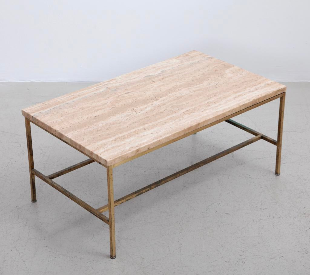 Rare Travertine Coffee Table By Paul McCobb For Calvin   Image 2 Of 5