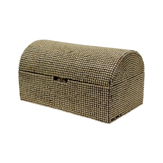 Brass Studded Tabletop Trunk - Image 1 of 9