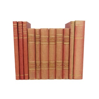 French Art Deco Cloth-Bound Books - Set of 11