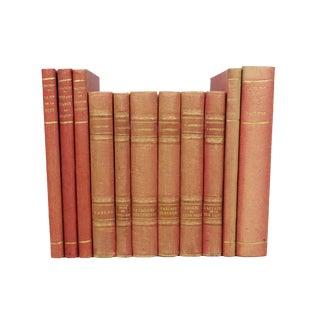 French Art Deco Cloth-Bound Books - Set of 11